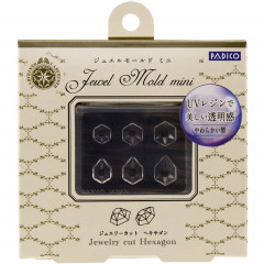 Japan Padico Jewel Mold Mini Clay & UV Resin Soft Mold - Jewelry Cut Hexagon