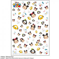 Japan Disney Tsum Tsum UV Resin Film Transparent Sheet - Mickey & Friends
