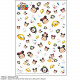 Japan Disney Tsum Tsum UV Resin Film Transparent Sheet - Mickey & Friends
