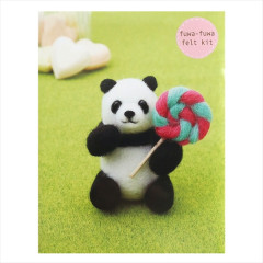 Japanese Wool Needle Felting Craft Kit - Panda & Candy