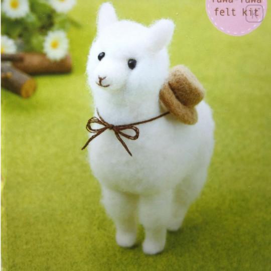 Japanese Wool Needle Felting Craft Kit - Alpaca & Hat - 1