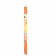 Japan Disney FriXion Ball Slim Erasable Gel Pen - Belle / Orange