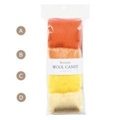 Japan Hamanaka Wool Candy 4-Color Set - Acid Orange