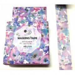 Japanese Washi Masking Tape - Purple Watercolor Flower