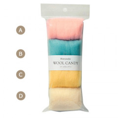 Japan Hamanaka Wool Candy 4-Color Set - Pastel Colors
