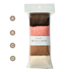 Japan Hamanaka Wool Candy 4-Color Set - Felt Dog Colors