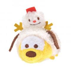 Japan Disney Tsum Tsum Mini Plush - Pluto × Christmas