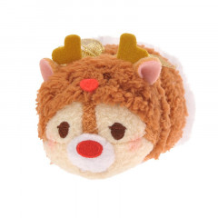Japan Disney Tsum Tsum Mini Plush - Dale × Christmas