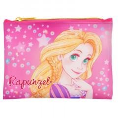 Japan Disney Zipper Pouch Coin Wallet & Pocket Tissue Holder - Tangled Rapunzel Luna