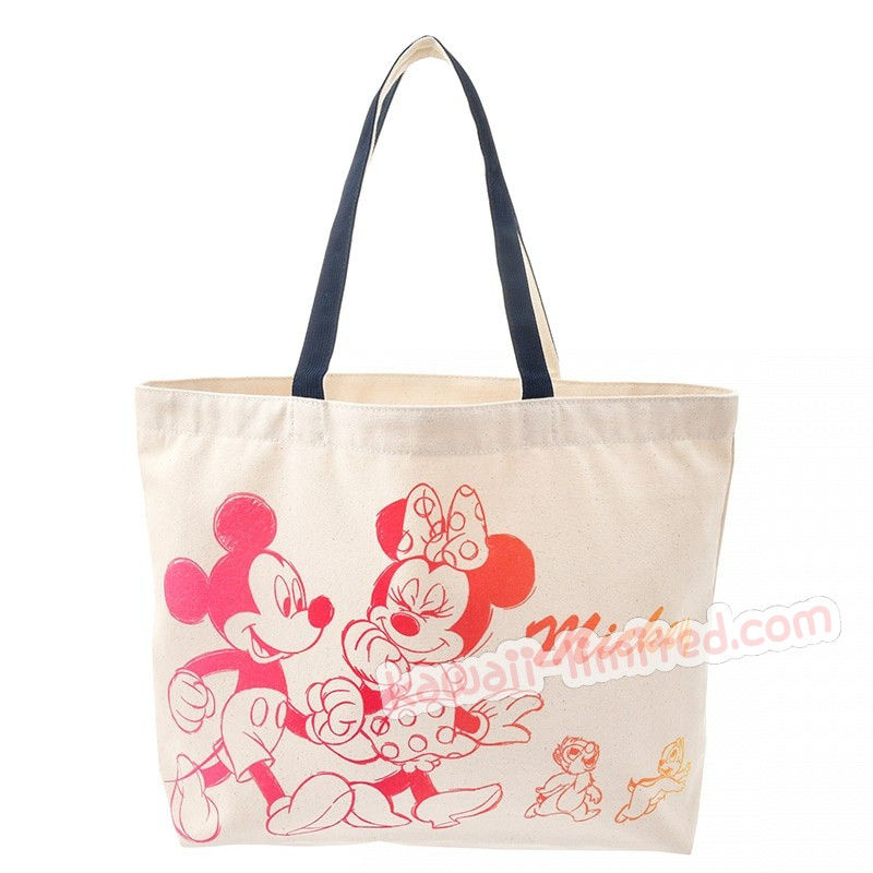 japan disney cotton tote bag mickey and friends kawaiilimited