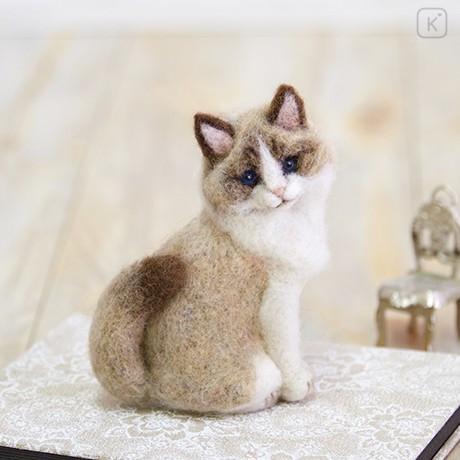 Japan Hamanaka Wool Needle Felting Kit - Ragdoll Cat - 1