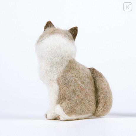 Japan Hamanaka Wool Needle Felting Kit - Ragdoll Cat - 2