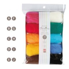 Japan Hamanaka Aclaine Acrylic Fiber 10-Color Set - H441-142-4