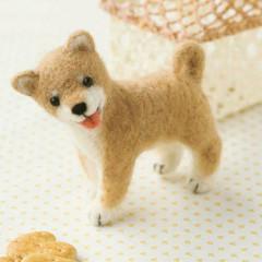 Japan Hamanaka Wool Needle Felting Kit - Shiba Inu