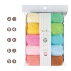 Japan Hamanaka Aclaine Acrylic Fiber 10-Color Set - H441-142-5