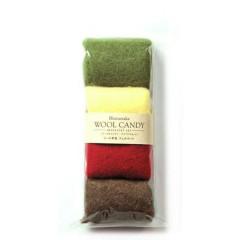 Japan Hamanaka Felket Wool Candy 4-Color Material Set - H441-123-5