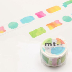 Japan MT Washi Masking Tape - Watercolor Label