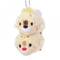Japan Disney Tsum Tsum Pair Plush Keychain - 2017 New Year Chip & Dale