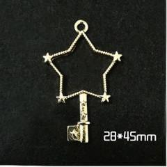 Circle Key Jewelry Charm Girl Power Magic Stick - Star Key