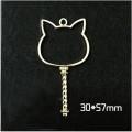 Circle Key Jewelry Charm Girl Power Magic Stick - Cat - 1