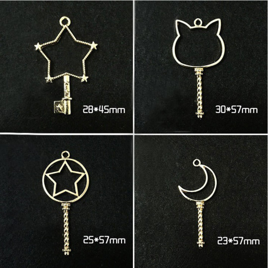 Circle Key Jewelry Charm Girl Power Magic Stick - Cat - 2