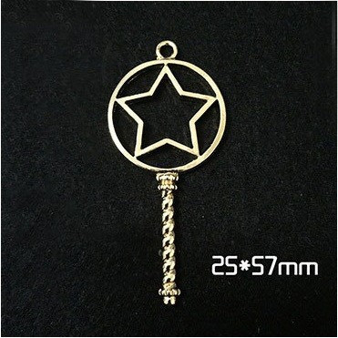 Circle Key Jewelry Charm Girl Power Magic Stick - Circle Star - 1