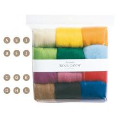 Japan Hamanaka Wool Candy 12-Color Set - Basic Selection