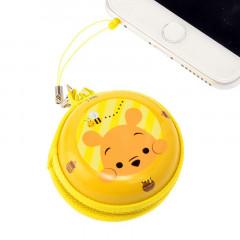 Japan Disney Zipper Can Case Phone Plug Jack - Pooh
