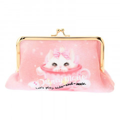Japan Disney Aristocat Marie Cat Hide in Tea Cup Stationary Pen Case Makeup Cosmetic Bag Pouch
