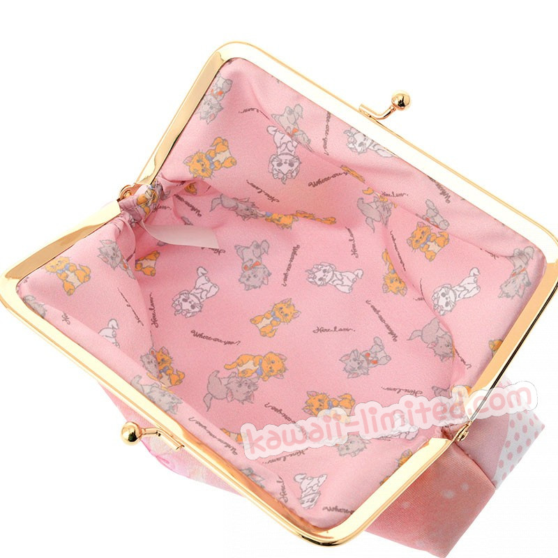An Disney Aristocat Marie Cat Hide In Tea Cup Stationary Pen Case Makeup Cosmetic Bag Pouch