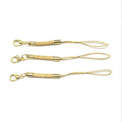 Gold Phone Straps Lanyard with Lobster Clasps 1pc