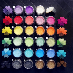 Pearl Mica Pigment Powder - Set of 23 colors
