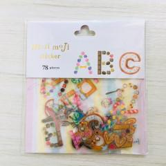 Moji Moji Flake Stickers 78pcs - Alphabet B09