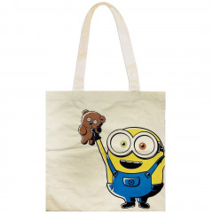 Japan Universal Cotton Tote Bag - Despicable Me Minions Bob