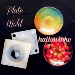 Mini Soft Mold - Plate - DIY Decoden Clay UV Resin Flexible Reusable