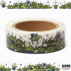 Japan Disney Washi Paper Masking Tape - Toy Story Little Green Men Aliens
