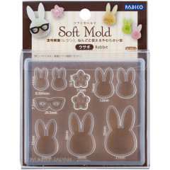 Japan Padico Clay & UV Resin Soft Mold - Rabbit