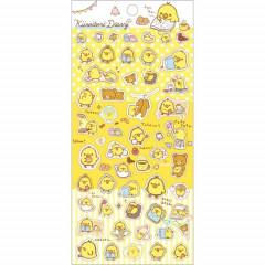 Japan San-X Rilakkuma Bear Seal Sticker - Chick Kiiroitori Diary - Yellow