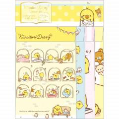 Japan Rilakkuma Letter Envelope Set - Bears & Chick Kiiroitori Dairy