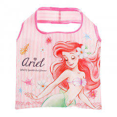 Japan Disney Eco Shopping Bag - Mermaid Princess Ariel Diamond Pink