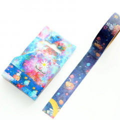 Japanese Washi Masking Tape - Cats in Space