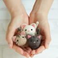 Japan Hamanaka Wool Needle Felting Kit - Cute Cats Buddy - 2
