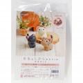 Japan Hamanaka Wool Needle Felting Kit - Cute Cats Buddy - 3