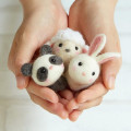Japan Hamanaka Wool Needle Felting Kit - Cute Animal Buddy Panda Sheep Rabbit - 2