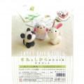 Japan Hamanaka Wool Needle Felting Kit - Cute Animal Buddy Panda Sheep Rabbit - 3
