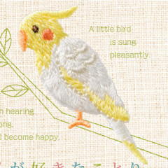 Japan Hamanaka Embroidery Iron-on Applique Patch - Bird Cockatiel