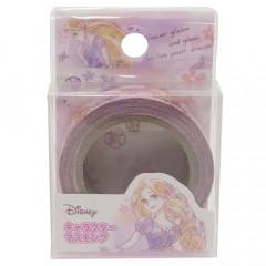 Japan Disney Washi Paper Masking Tape - Water Color Princess Rapunzel Shiny Dream