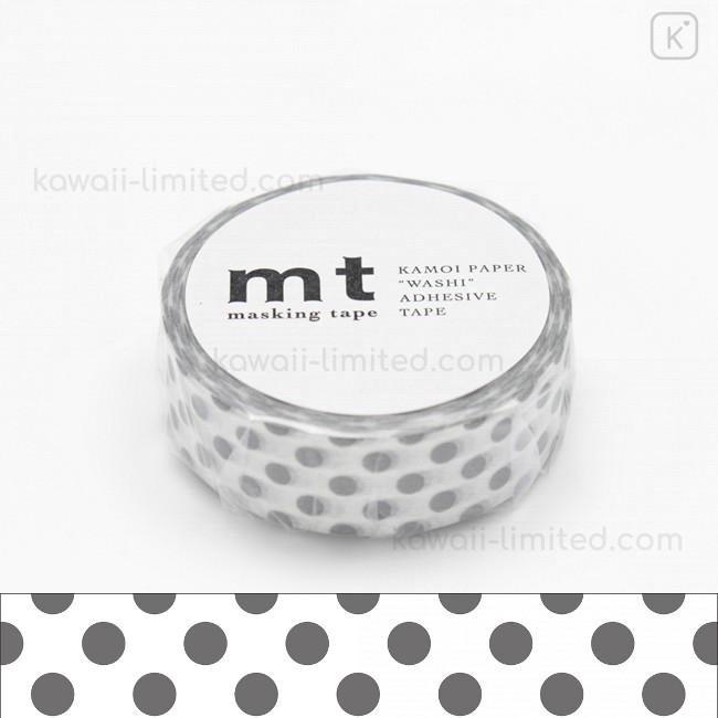 MT Japanese Washi Masking Tape Black Dots