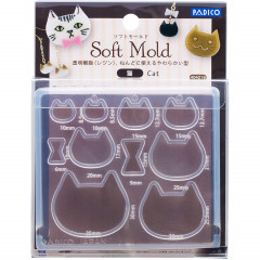 Japan Padico Clay & UV Resin Soft Mold - Cat