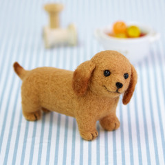 Japan Hamanaka Aclaine Needle Felting Kit - Miniature Dachshund Dog